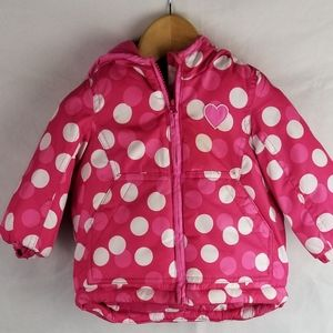 Oshkosh B'gosh Pink and White Polka Dots size12 mo